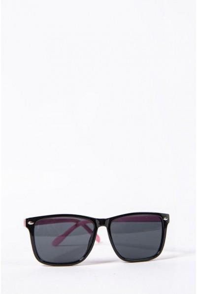 Очки  детcкие  солнцезащитные 154R2019-2 цвет Черно-розовый 52692