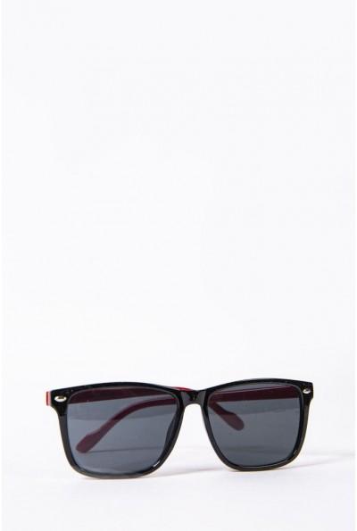 Очки  детcкие  солнцезащитные 154R2019-2 цвет Черно-красный 52690