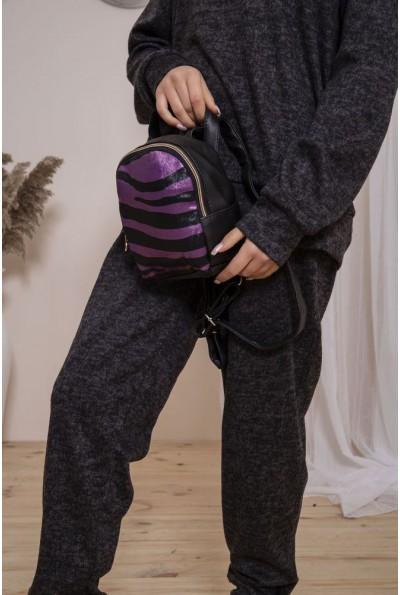 Рюкзак 154R003-21-1 цвет Черно-фиолетовый