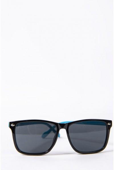 Очки  детcкие  солнцезащитные 154R2019-2 цвет Черно-голубой 52688