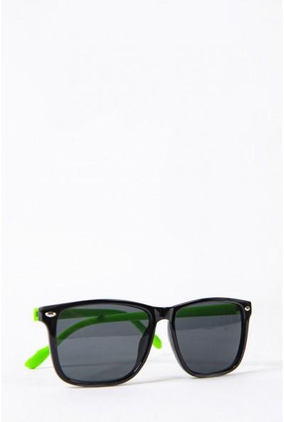 Очки  детcкие  солнцезащитные 154R2019-2 цвет Черно-салатовый 52694
