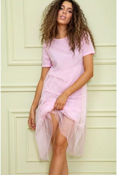 Платье 167R107-1 цвет Светло-розовый 62863
