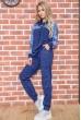 Спорт костюм женский  172R004-1 цвет Темно-синий недорого