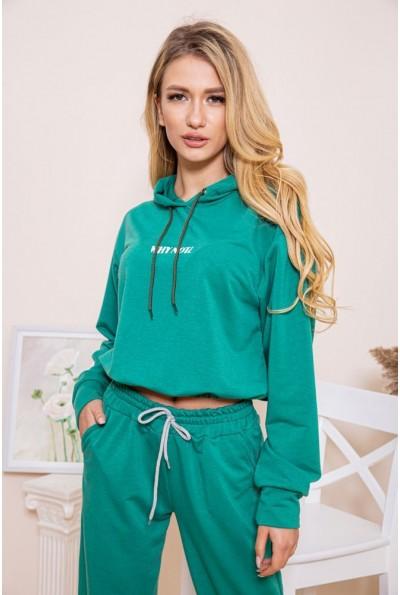 Женский худи с капюшоном зеленого цвета 103R169