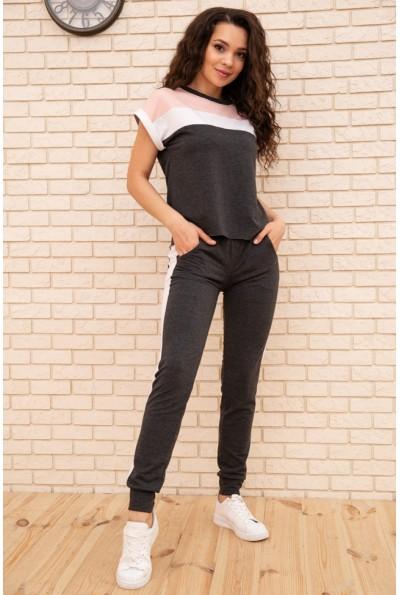 Спортивный  костюм женский 102R190-1 цвет Грифельно-розовый 55405