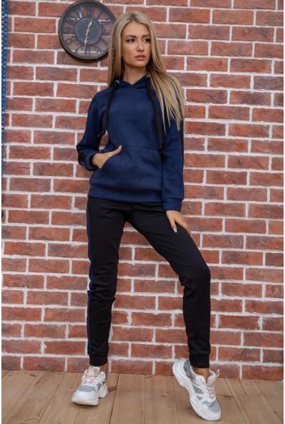 Спортивный костюм женский теплый на флисе цвет Темно-синий 119R245 44270