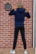 Спортивный костюм женский теплый на флисе цвет Темно-синий 119R245 стоимость