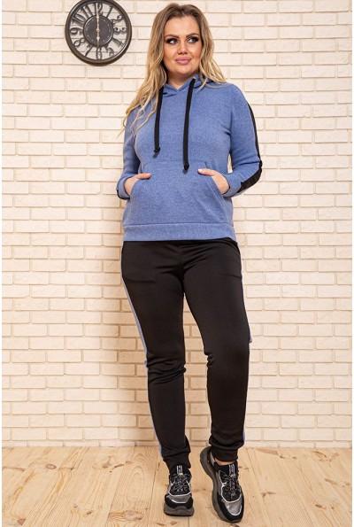 Спортивный костюм женский теплый на флисе цвет Синий 119R245 44258