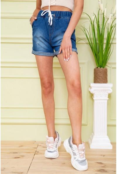 Джинсовые шорты женские 164R700-281 цвет Синий 59011