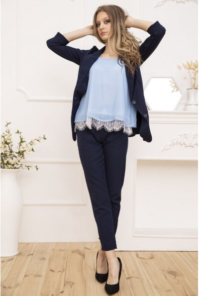 Женский костюм двойка Пиджак и брюки цвет Синий 119R49-1