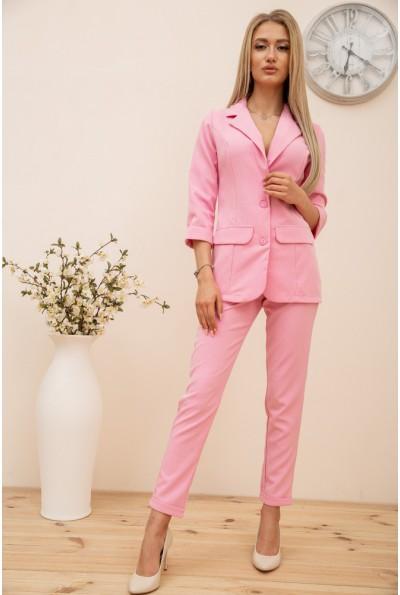 Женский костюм двойка Пиджак и Брюки цвет Розовый 119R49-1 56814