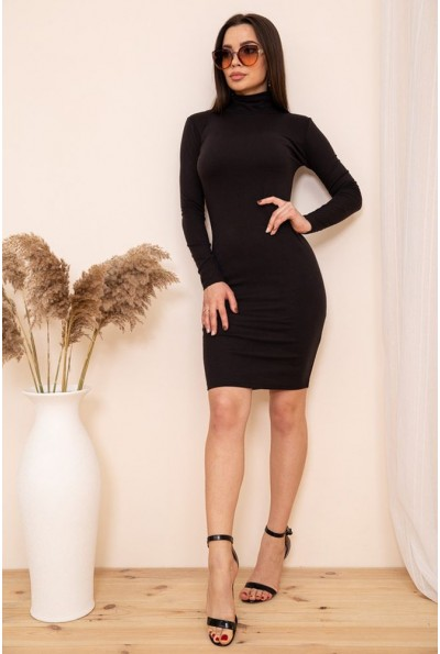 Облегающее платье гольф цвет Черный 167R1-3 54252
