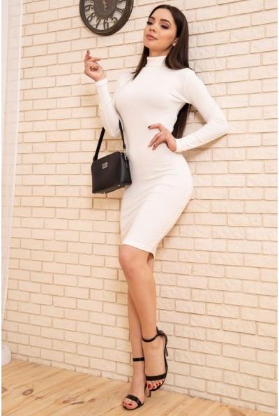 Облегающее платье гольф цвет Молочный 167R1-3 54246