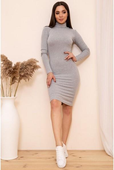 Облегающее платье гольф цвет Серый 167R1-3 54248