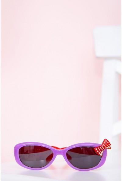 Очки  детcкие  солнцезащитные 154R6614 цвет Сиренево-красный 58412