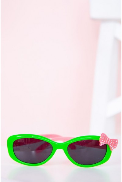 Очки  детcкие  солнцезащитные 154R6614 цвет Салатово-розовый 58410