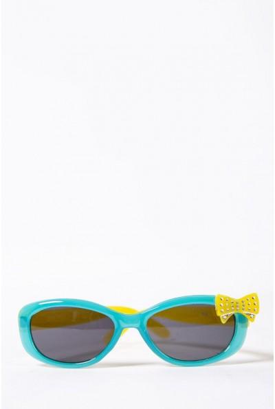 Очки  детcкие  солнцезащитные 154R6614 цвет Бирюзовый 52661