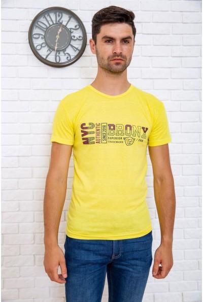 Футболка мужская  167R116 цвет Желтый 61329