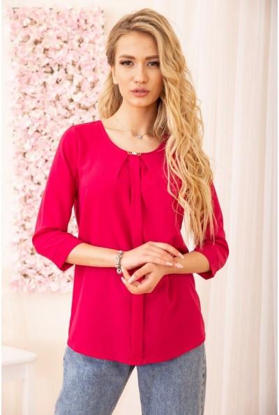 Свободная женская блуза с рукавами 3/4 цвет Малиновый 172R3-1 55022