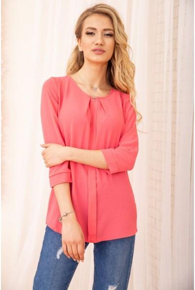 Свободная женская блуза с рукавами 3/4 цвет Розовый 172R3-1 55024