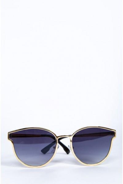 Очки женские  солнцезащитные  154R001 цвет Черно-золотистый 62162