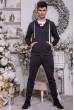 Спортивные штаны мужские на флисе 102R104 цвет Грифельный недорого