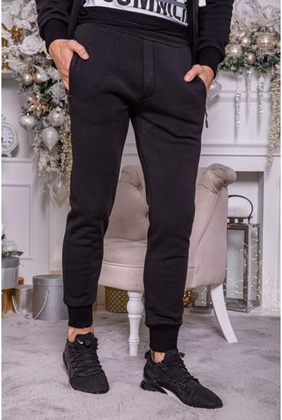 Спортивные штаны мужские на флисе 102R104 цвет Черный