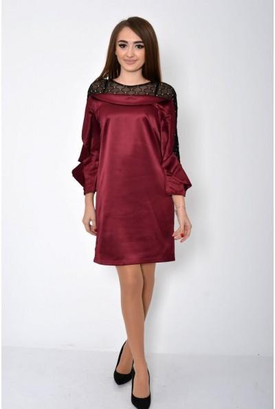 Платье женское 115R358 цвет Бордовый