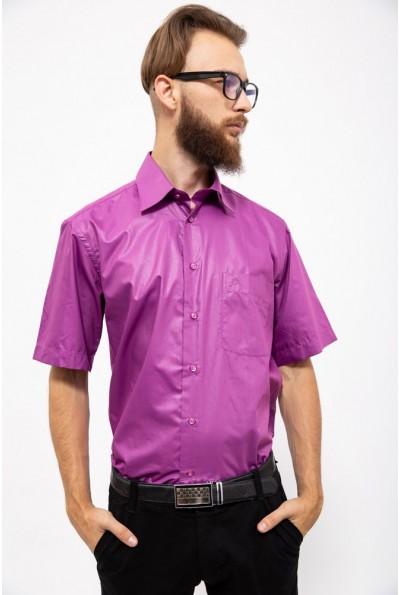 Классическая мужская рубашка фиолетового цвета 113R001