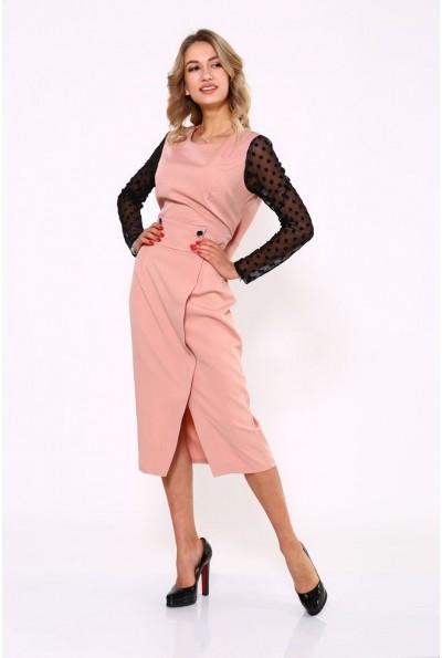Платье женское 119R466 цвет Пудровый