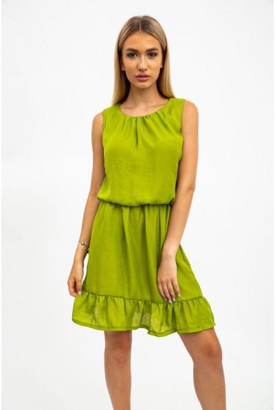 Платье женское, летнее салатовое 119R290