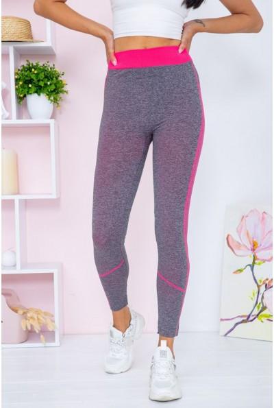 Лосины женские  цвет серо-розовый 129R829-12 67335