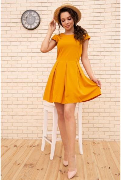 Летнее платье мини с расклешенным низом цвет Горчичный 167R164-1