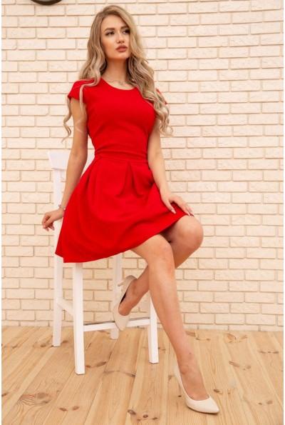 Летнее платье мини с расклешенным низом цвет Красный 167R164-1 56401
