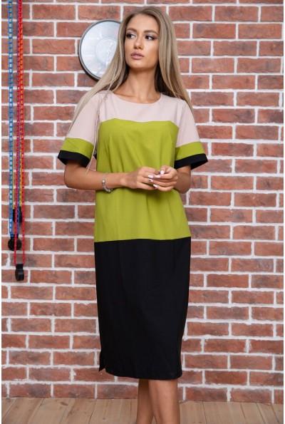 Платье  цвет бежево-зеленый 150R621 65978