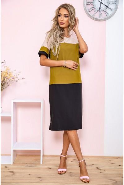 Платье  цвет оливковый 150R621 65086
