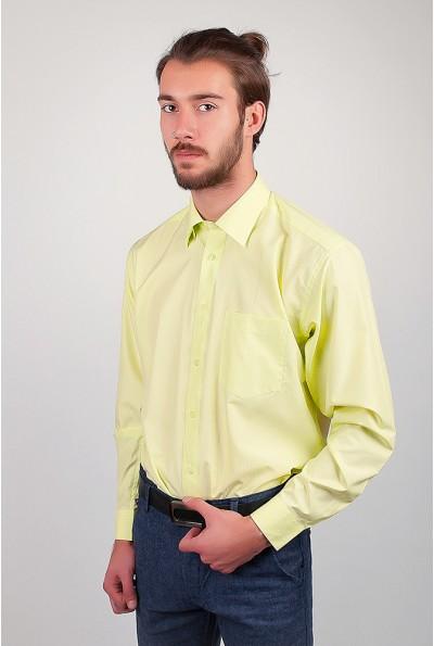 Рубашка мужская, салатовая однотонная AG-0002279