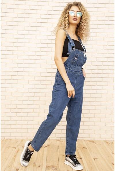 Комбинезон джинсовый женский цвет Синий 129R2232
