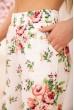 Летние хлопковые штаны с цветочным принтом цвет Молочный 172R65-1 скидка