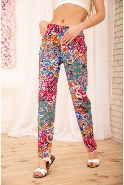 Летние хлопковые штаны с восточным принтом 172R65-1