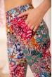 Летние хлопковые штаны с восточным принтом 172R65-1 скидка