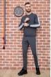 Однотонный мужской спортивный костюм 131R301-08 недорого
