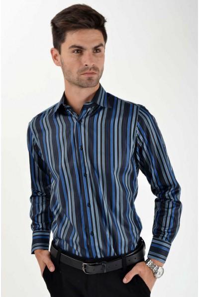 Рубашка 113RPass20 цвет Черно-синий