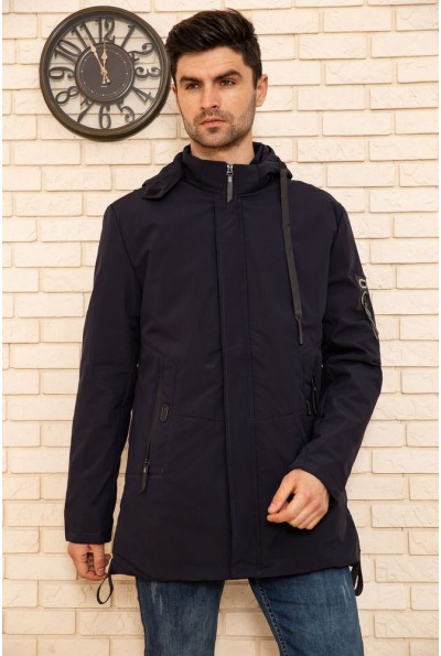 Куртка мужская с капюшоном демисезонная цвет Синий 129R8805 50750