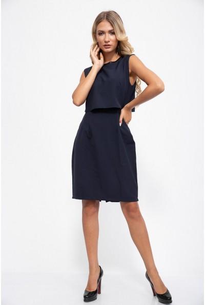 Платье 115R164-1 цвет Темно-синий