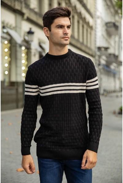 Джемпер мужской 154R2029 цвет Черный 40099