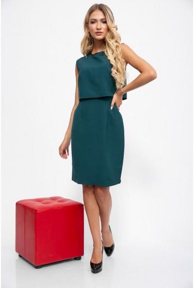 Платье 115R164-1 цвет Темно-зеленый