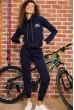 Костюм женский на флисе  цвет темно-синий 167R036 недорого