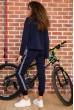 Костюм женский на флисе  цвет темно-синий 167R036 стоимость