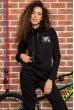 Костюм женский на флисе  цвет черный 167R036 недорого